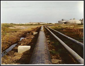 Base oil pipe line support foundations – Tema