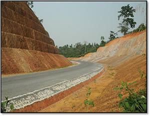 Asankragua-Enchi Road Project, Slope Stabilization Works