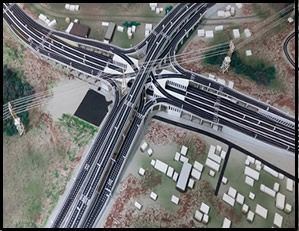 Top view of proposed design of Pokuase Interchange - Accra Urban Transport Project (Phase 1)