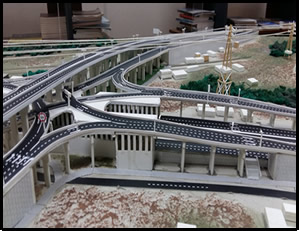 Side view of proposed design of Pokuase Interchange - Accra Urban Transport Project (Phase 1)