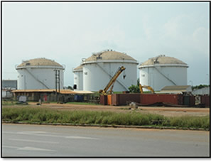 Petroleum Storage Depot at Accra Plains